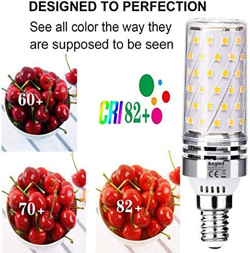 E14 LED Lampen 12W,Aogled E14 LED Warmweiss 3000K,Entspricht 100W Brine,1200LM Maiskolben,Kandelaber LED,Nicht Dimmbar,Kein Flackern AC100-240V,4er Pack