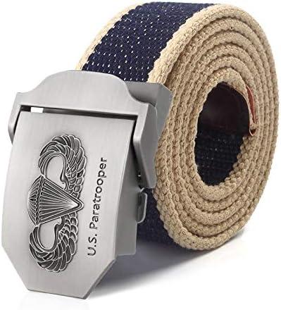 WDYDDW Men'S Belt Men&Women Military Canvas Belt Us