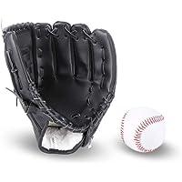 JunFeng Guante de béisbol para niños y adultos con 1 pelota suave, guante de béisbol de cuero sintético, 10.5 y 12.5…