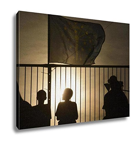 Ashley Canvas, Indiana Flag Silhouette, Home Decoration Office, Ready to Hang, 20x25, AG6416026 by Ashley Canvas