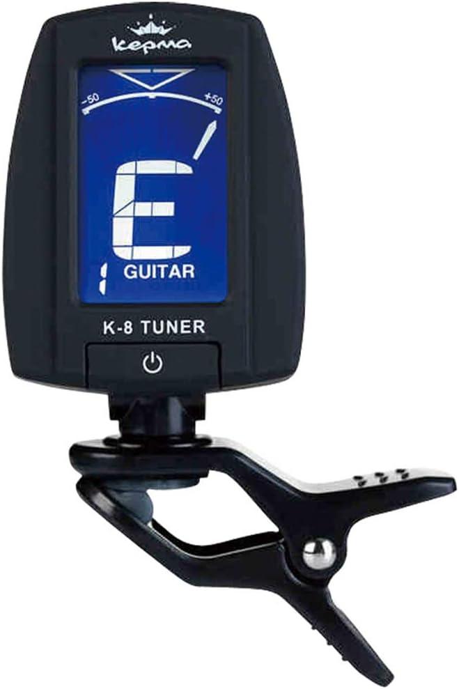 YAzNdom Sintonizador Guitarra Ukulele Bajo Doce Temperamento Original Afinador Afinador de Guitarra (Color : Negro)