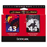 Lexmark 43XL & 44 XL Pack Color & Black ...