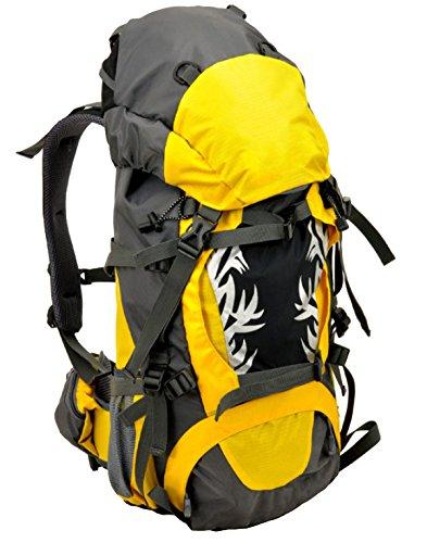 Deportes Al Aire Libre Bolsos Del Alpinismo Capacidad Grande Salvaje Acampando Morral Bolso Impermeable Profesional Del Montar A Caballo Excursión Morral Multi-funcional. Multicolor Yellow