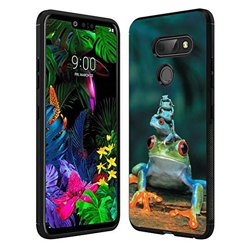 LG G8 ThinQ case Frog Piles Full Body Case Cover Screen Protector Heavy Duty Protection case Shockproof case for LG G8 ThinQ