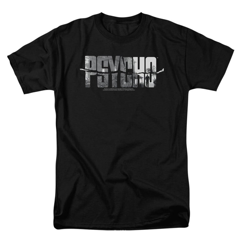 Psycho Classic Horror Film Ripped Logo Adult T-Shirt Tee