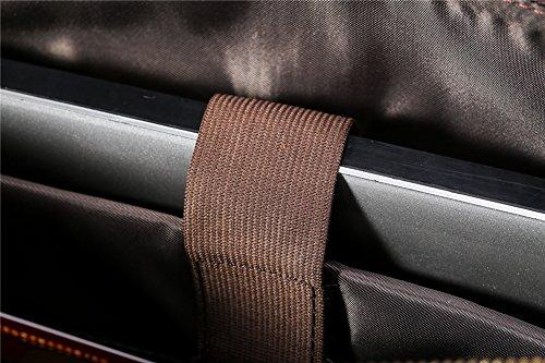 Genda 2Archer Borsa 100% Pazza di Pelle Vera del Cavallo Cartella Aziendale Sacchetto di Spalla di Viaggio (40cm*15cm*32cm)