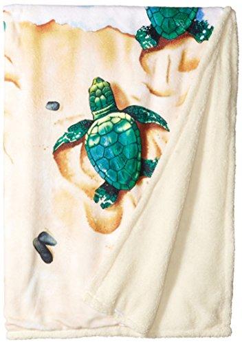 - Liquid Blue Men's Nature Aquatic Turtle Beach Warm Coral Fleece Throw Blanket, Multi, 50