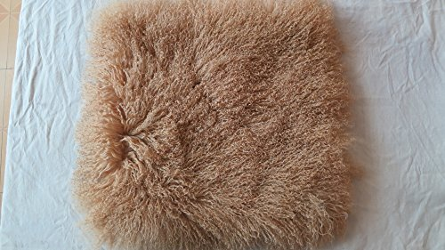 hbyc Camel Mongolian Tibetan Lamb Fur Throw Pillow Cushion Cover Pillowcase (20