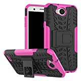 LG X Power 2 Case, SsHhUu Tough Heavy Duty Shock Proof Defender Cover Dual Layer Armor Combo Protective Hard Case Cover for LG X Power 2 / K10 power / LV7 (5.5 Inch) Rose