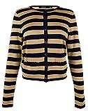 Lauren Ralph Lauren Women's Plus Size Striped Metallic Cardigan Sweater-NG-3X