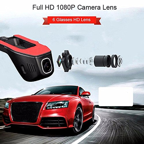 Eaglecam Mini Wifi Araba Dvr DashCam Video Kaydedici Kamera 170 Derece Geniş Açı Full HD 1080 P Çift Kamera Lens Reistrato