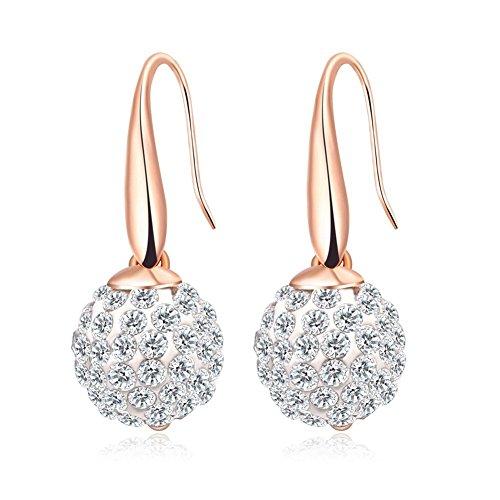 Simulated Diamond Disco Ball Earring Ear Hoop Perfect Birthday Valentines Gift ()