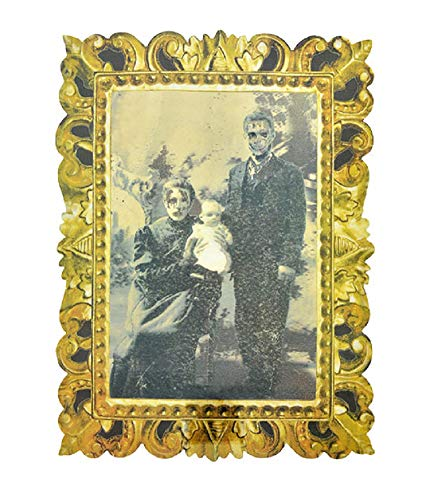 A&T Designs Halloween Lenticular Victorian Family Portrait - Plastic Decoration for Party Haunted House - Scary Creepy Eerie Spooky Bloody Vintage Look (Style A)