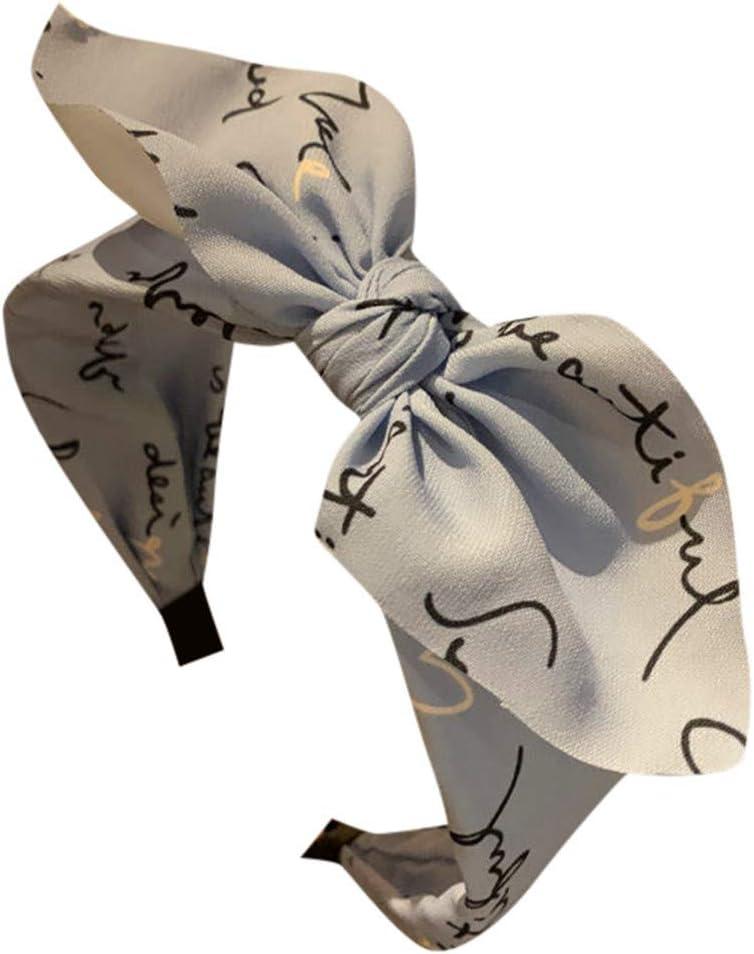 Yliquor Fashion Headbands Bow Knot Turban Hair Band Print Women Hair Head Hoop Girls Headwrap Headband Accessories