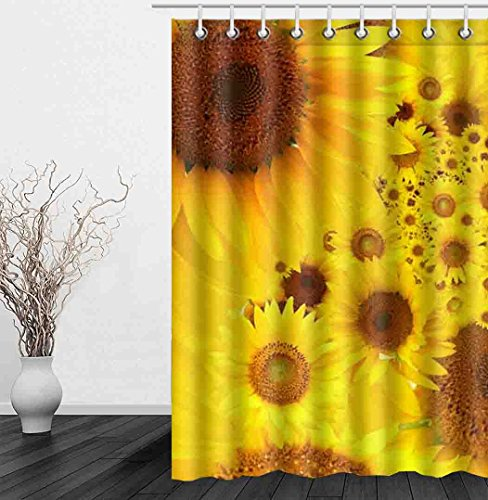 Dragonfly Dreams Window Panels (JIDUIDODO Decoration Gifts Custom Thanksgiving Day Beautiful Sunflowers Window Curtain for Living Room, Bedroom, And Kids Rooms Polyester Window Treatments 52