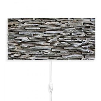 banjado Glas Wandlampe LED Leuchte Innen Wandbeleuchtung Schalter Steinwand