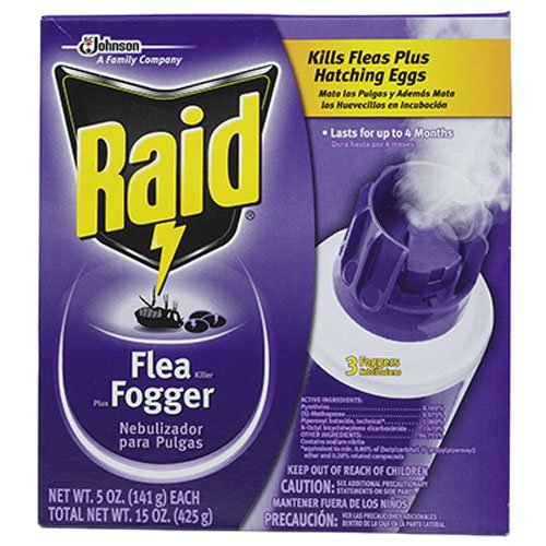 S C JOHNSON WAX 41654 Raid 5 oz Flea Fogger (3 Pack)