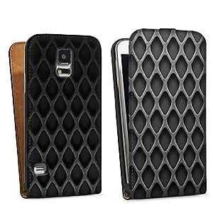 Diseño para Samsung Galaxy S5 DesignTasche black - Rautenstruktur dunkel
