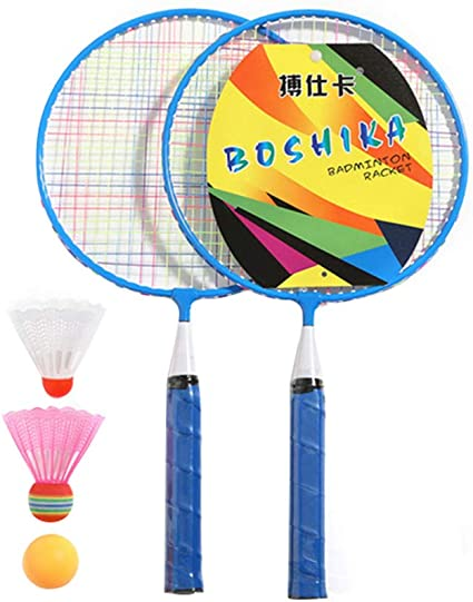 1 Set Badminton Racket Alloy Badminton Set Sports Toy Sports Supplies for Kids