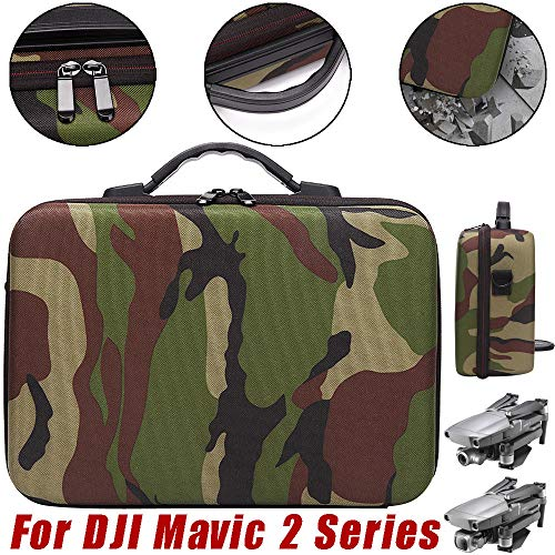 (SUKEQ Carry Case for DJI Mavic 2 Series, Waterproof Travel Case EVA Handheld Storage Bag Camouflage Shoulder Bag for DJI Mavic 2 Pro and DJI Mavic Zoom Drone )