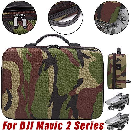 (SUKEQ Carry Case for DJI Mavic 2 Series, Waterproof Travel Case EVA Handheld Storage Bag Camouflage Shoulder Bag for DJI Mavic 2 Pro and DJI Mavic Zoom Drone)