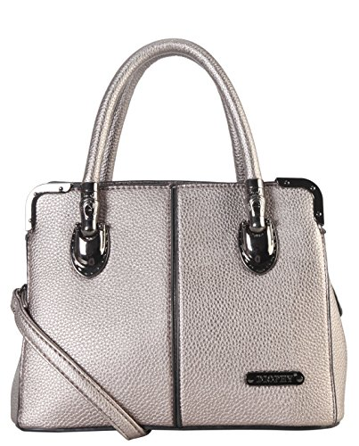 diophy-womens-faux-leather-dual-compartments-mini-tote-handbag-ab-035-pewter