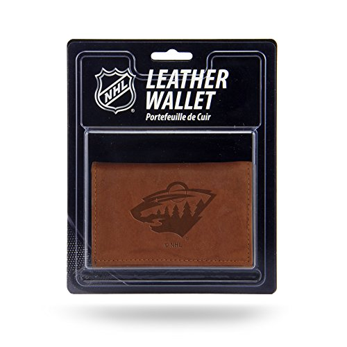 (Rico Industries NHL Minnesota Wild Leather Trifold Wallet with Man Made Interior)