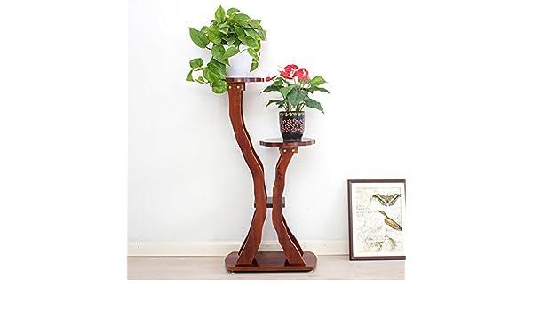 LHA Pérgola Green Flower Stand de Madera Maciza Single Chinese ...