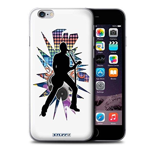 Coque de Stuff4 / Coque pour iPhone 6+/Plus 5.5 / Chanteur Blanc Design / Rock Star Pose Collection