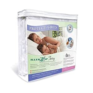 """Protect-A-Bed AllerZip Terry Allergy / Bed Bug Free Mattress Protector Full Size (13""""-18"""" Deep)"""