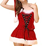 Chinatera 3Pcs Clothes Suit Sexy Lingerie Hot Erotic Christmas Cosplay Costumes Outfit Fancy Dress