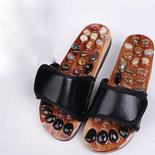 Home antiscivolo Pantofole Hydt massaggio Pantofole Cobblestone Points Nero donna Interior Acupuncture Sole da da Sandali Couples qYgazntxz