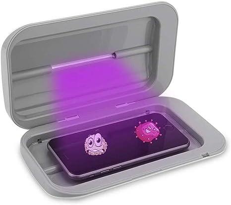Caja de Esterilizador Mini con luz ultravioleta doble para Desinfecion de phone y cepillo de dientes ect, para Salones de belleza y Restaurante ect, teléfono con carga USB (certificación FDA): Amazon.es: Bebé