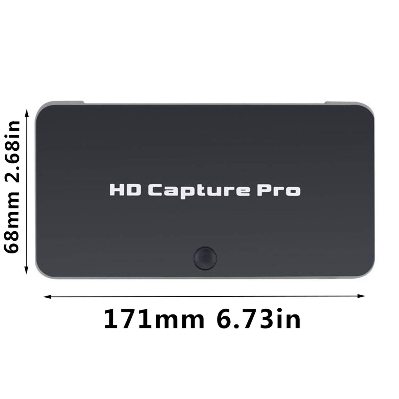 creatYspace HD 1080P Game Capture Video Capture HDMI Video Recorder Remote Control Timed Recording for PS4 Xbox Support Mic Plug and Play