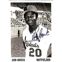 $65 » Lou Brock Signed 5x7 Photo St. Louis Cardinals Stock #106123 - Autographed MLB Photos