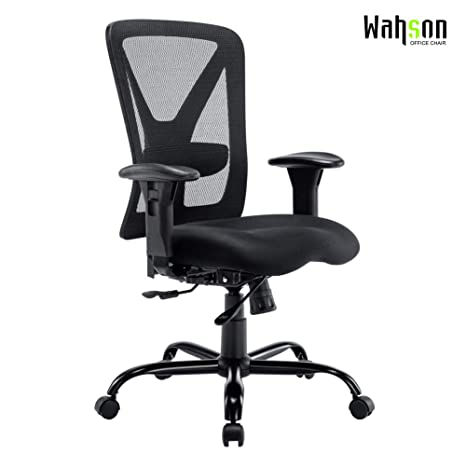 Groovy Big And Tall Office Chair 400 Lbs Recline Mesh Mid Back Task Chair For Large Person 400 Lbs Black Pdpeps Interior Chair Design Pdpepsorg