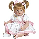 """Adora Toddler Happy Birthday Baby 20"""" Girl Weighted Doll Gift Set for Children 6+ Huggable Vinyl Cuddly Snuggle Soft Body Toy"""