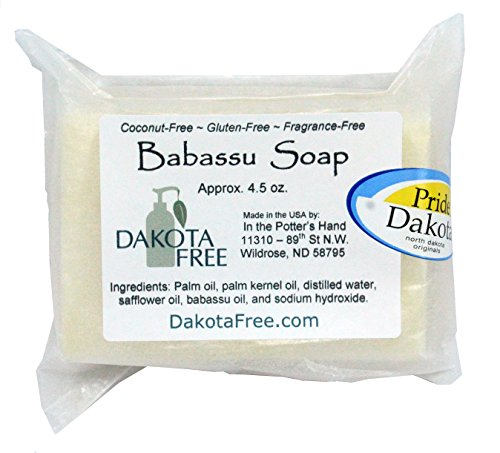 Dakota Free Babassu Soap 4.5 oz Bar (Coconut Free) Head to Toe Shampoo Bar