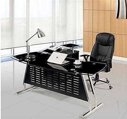 Grupo SDM Mesa despacho Escritorio Oval, Mueble a Derecha, Cristal ...