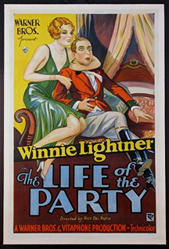 LIFE OF THE PARTY WINNIE LIGHTNER AS PRE-CODE FLAPPER 1930 1-SHEET Vintage Movie Poster Linenbacked