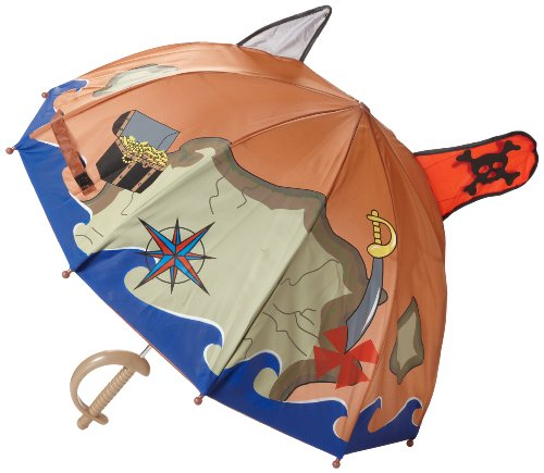 Kidorable Pirate Umbrella, Brown, One Size for Toddlers and Big Kids, Lightweight Child-Sized Nylon Rain Proof Umbrella by Kidorable (Image #2)
