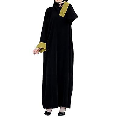 Amphia Damen Maxikleid Partykleid,Frauen Islamischen Muslim Lange ...