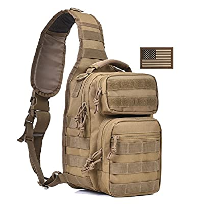 REEBOW GEAR Tactical Sling Bag Pack Military Rover Shoulder Sling Backpack Small