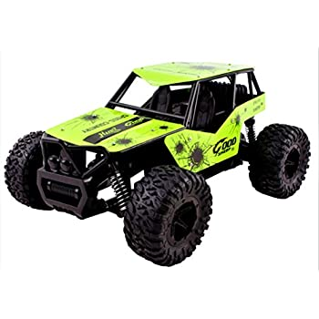 King Cheetah Turbo Diecast Body Remote Control RC Buggy Car Truck 2.4 GHz System Large 1:16 Scale Size RTR w/ Working Suspension, High Speed, Radio Control Off-Road Hobby Truggy Rechargeable (Green)