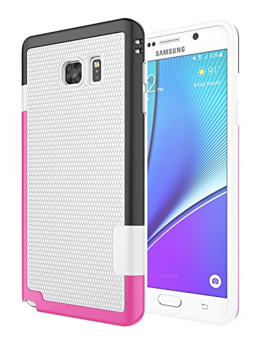 Shockproof anti fall scratch case for Samsung Note5 (Gold + Red) - 2
