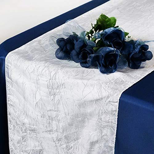 Mikash 20 Pack Taffeta Crinkle Table Runner Wedding 20+ Colors to Choose from!   Model WDDNGDCRTN - 21761   -