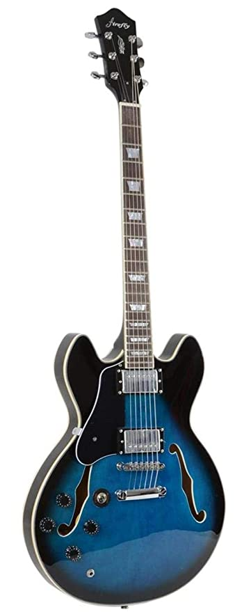 Amazon com: Firefly Left-Handed Semi-Hollow Body Guitar
