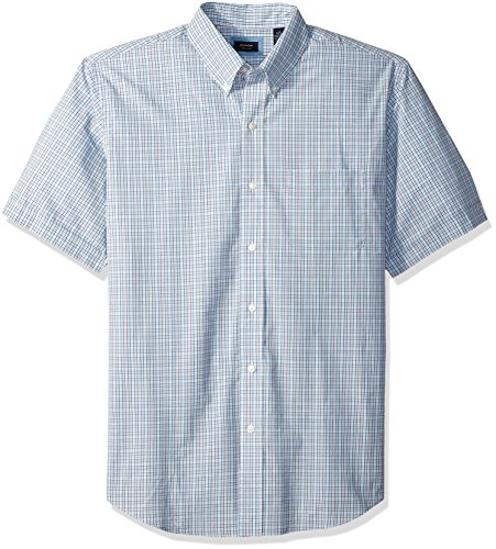 Arrow Men's Tall Short Sleeve Hamilton Poplin Shirt, Skyway, 3X-Large - And Shirts Big Tall Men