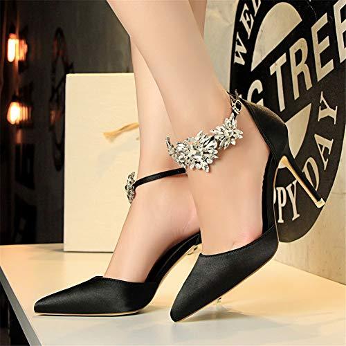 Moquite Estate Moda Femminile Nuovo Scarpe Ed Primavera Donna Tacco Nero Alto 2019 Shoes A Con Spillo Sandali Sexy Col TZtw5qTIrx