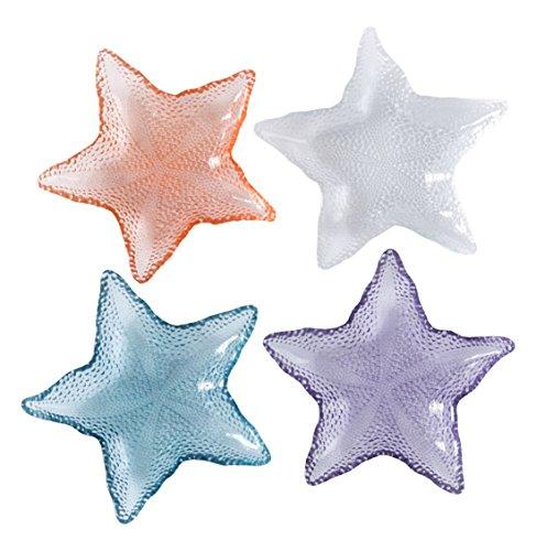 Shiraleah Assorted Starfish Plates (Set of 4), Multicolor by Shiraleah